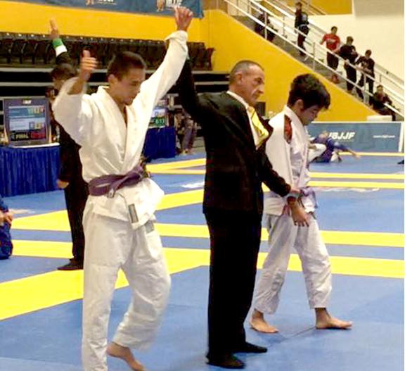 Higher Ground Brazilian Jiu-Jitsu Student Competing